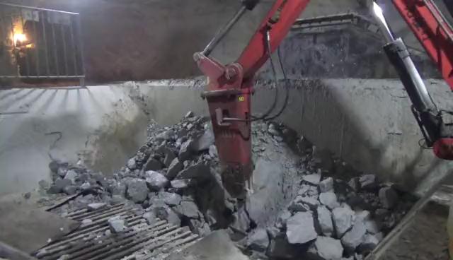 矿山用固定式液压工作臂碎石机-帖子图片