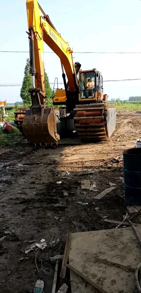 水上挖机出租水上钩机出租船挖出租长臂挖机出租湿地挖机出租