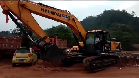 全网首台HYUNDAI  R350Lvs试用报告