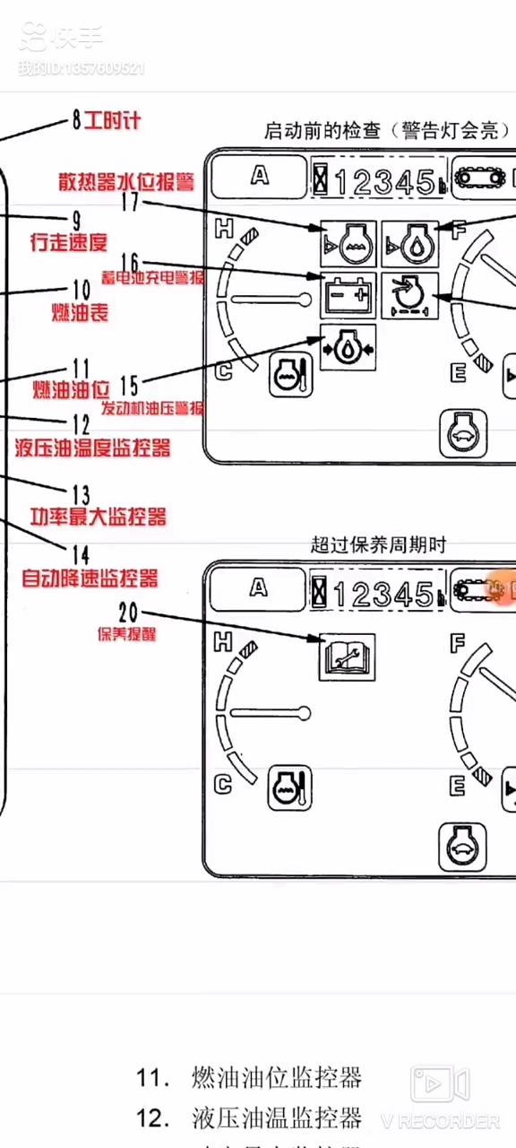 说一说小松7型监控面板报警标志