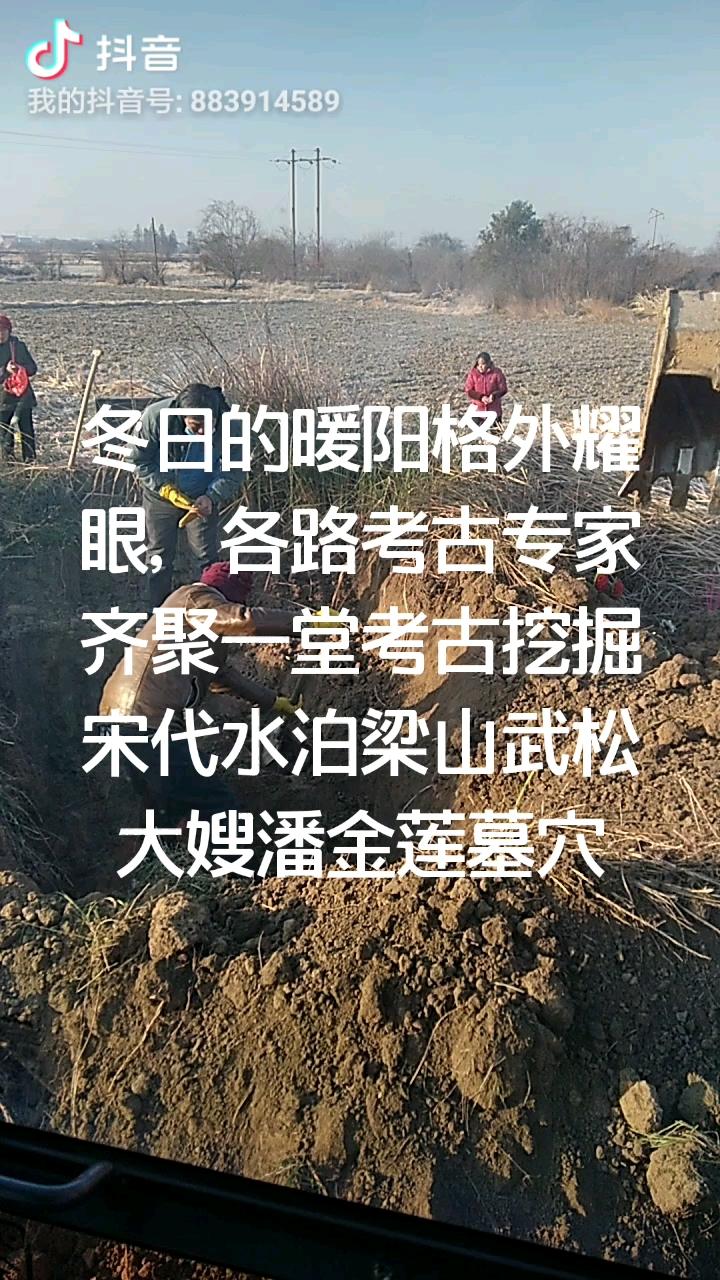 考古挖掘进行中