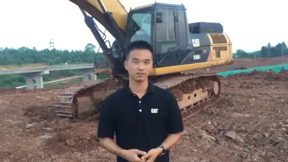 挖机初认识,操作部件介绍及对应动作