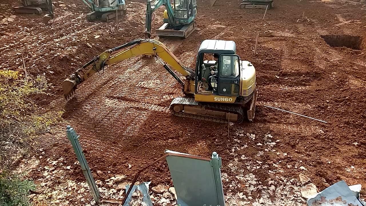 老胥挖机实训:转土技术