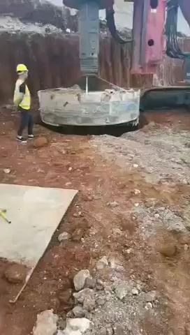 三一405,3.3米桩径施工