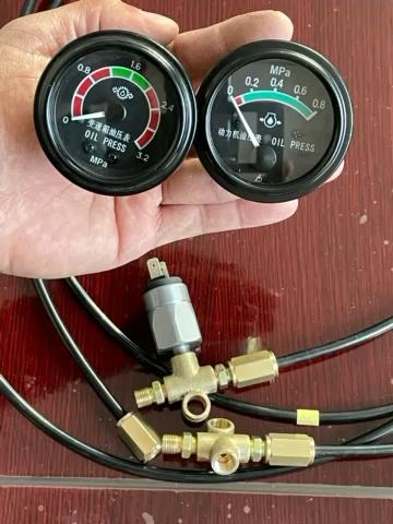 装载机改装直感油压表,你看看行不行?