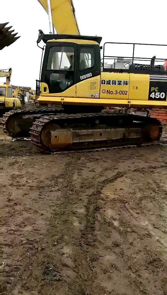 小松450二手挖掘机,现场试车