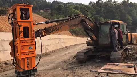 三一215挖机改装液压夯实机