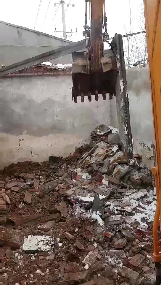 利用断楼板拆墙