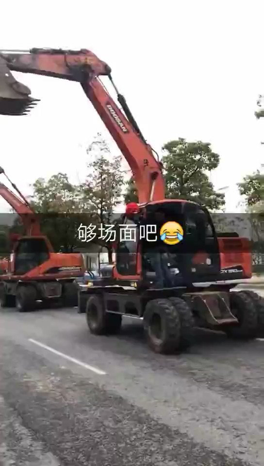 挖掘机当婚车,霸气侧漏!