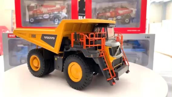 【模玩】沃尔沃全新R100E矿卡合金模型