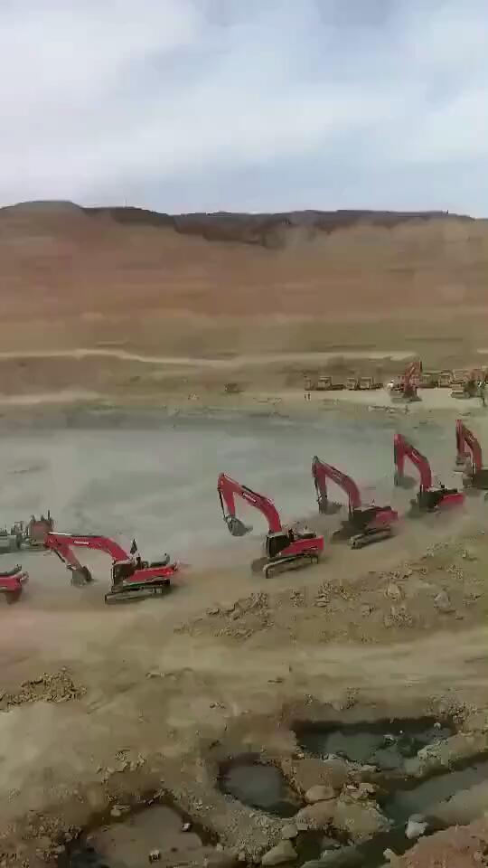 【视频征集】你没见过的排面!清一色斗山挖机列队去干活