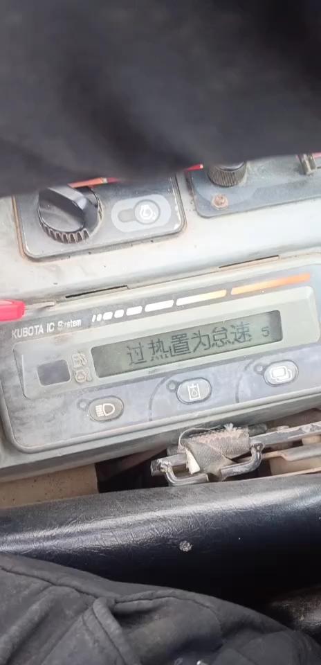 久保田161,仪表显示过热至于怠速5